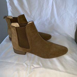 Zara caramel suede Chelsea boots